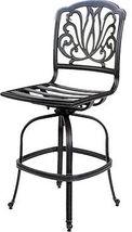 Outdoor bar stools set of 3 swivel patio aluminum furniture Elisabeth Bronze image 7