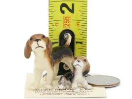 Hagen Renaker Miniature Dog Beagle and Puppy Ceramic Figurine Set image 2