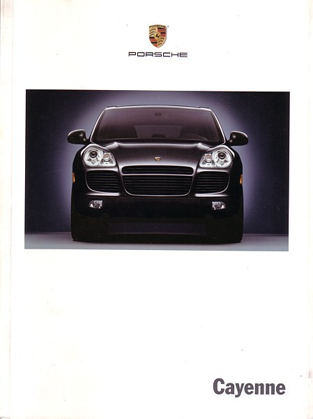 2003 Porsche CAYENNE sales brochure catalog US 03 S Turbo