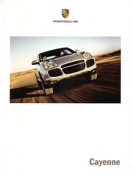 2005 Porsche CAYENNE sales brochure catalog US 05 S Turbo
