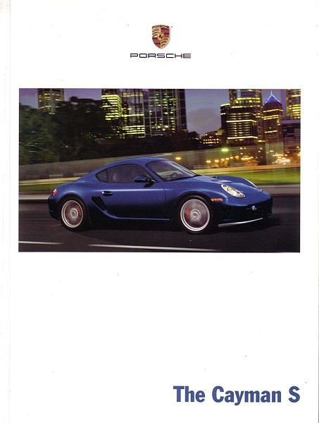 2006 Porsche CAYMAN sales brochure catalog US 06 S
