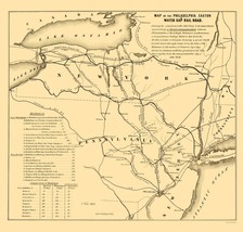 Philadelphia, Easton, Water Gap Railroad 1852 - 23 x 24 - $36.95+