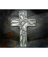 Pewter Cross with Geometric Design - $9.99