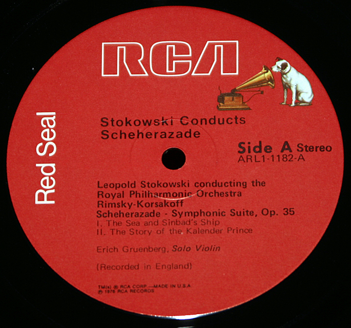 Scheherazade - Stokwski conducts Royal Philharmonic Orch. RCA Red Seal ARL1-1182