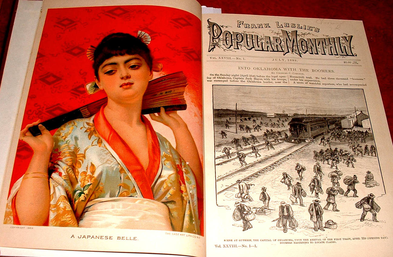 Leslies Popular Monthly Bound 1889 literary stories events history illustrated