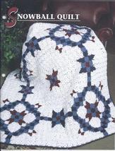 Snowball Quilt Afghan Crochet Pattern~RARE - $19.99