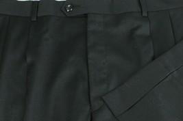 Jos A Bank Mens Navy All Season Wool Pleated Dress Pants 36 x 33