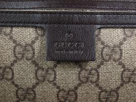 GUCCI GG Web PVC Canvas Patent Leather Browns Shoulder Bag GS2242 image 11