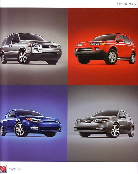2005 Saturn full line DELUXE brochure catalog 05 US VUE ION