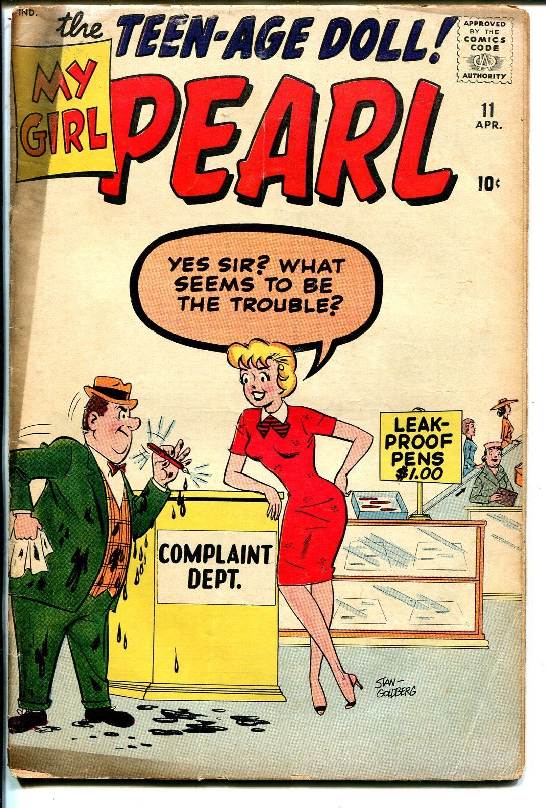 My Girl Pearl #8 1961-Marvel-Stan Goldberg-Good Girl Art-VG-