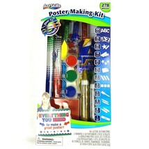 Poster Making Kit 278 Pieces by Art Skills Letters Stars Markers Paint S... - $18.40