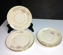 8 Pc Homer Laughlin Eggshell Nautilus TULIP~4 Ea- Saucers, Bread & Butte... - $9.89