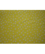 White Polka Dots on Yellow B/G-Choice Fabrics-BTY - $8.95