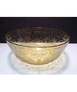 "Vintage Federal Glass Madrid Amber Depression Glass 9 1/2"" Round Serving Bowl - $19.99"