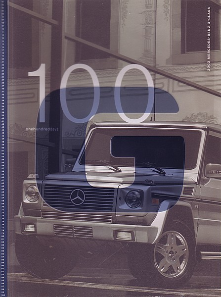 2003 Mercedes-Benz G-CLASS sales brochure catalog US 500 G55