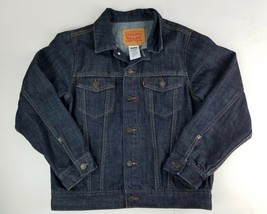 Levi's Kids denim trucker jacket indigo blue Size Large 12-13 yrs. Perfect Cond - $29.91