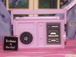 Light Pink stereo boombox radio cd lot fits Fisher Price loving family dollhouse - $4.94