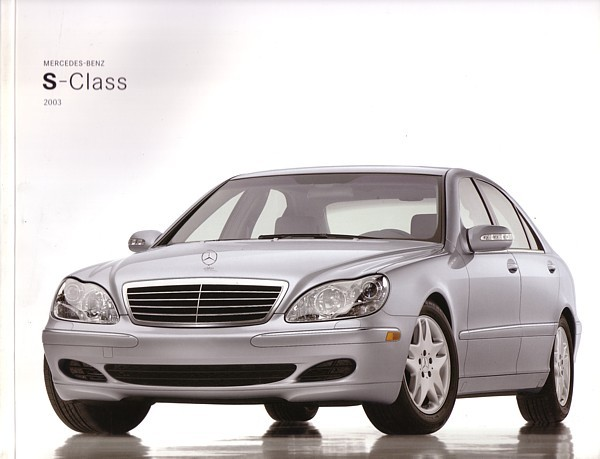 2003 Mercedes-Benz S-CLASS brochure catalog US 500 600 S55