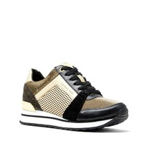 Michael Kors MK Women's Billie Trainer Lasered Mirror Metallic Sneakers Shoes