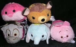 Disney Tsum Park Characters 5 Pc Mini Dumbo Cheshire Cat Bambi Piglet Sven - $29.99