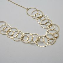 Choker Necklace Silver 925 Foil Gold with Circles by Maria Ielpo Made in Italy image 7