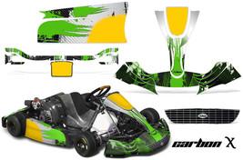 Go Kart Graphics Kit Decal Sticker Wrap For Righetti Ridolfi XTR14 CARBONX GREEN - $197.95
