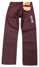 Levi's 501 Men's Shrink To Fit Straight Leg Jeans Button Fly Red 501-1577 image 4