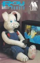 """Ray Remote, Annie's Crochet 31"""" tall Bunny with Overalls Pattern Booklet... - $3.95"""