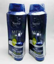 2 x SUAVE MEN 3-in-1 CITRUS RUSH Shampoo Conditioner Body Wash 28oz/828ml  - $19.75