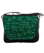 New Mathematics Formula Enistein Custom Print Messenger Bag L - $30.99