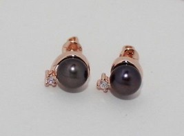 SET Earrings ring pear Vintage Russian fine jewelry USSR Rose Gold 14K 5... - $410.85