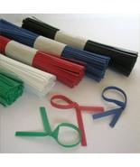"Genuine!! ULINE Plastic Pre-Cut Twist Ties 4"" Inches Length - $3.71+"