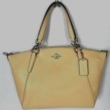New Coach 31075 small Kelsey Pebble Leather Satchel handbag Vanilla (Yel... - $129.00