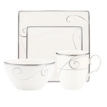 Noritake Platinum Wave 4-piece Square Dish Set - $85.00