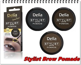 NEW Delia Eyebrow Stylist Brow Pomade Dark Brown, Light Brown & Graphite... - $7.68