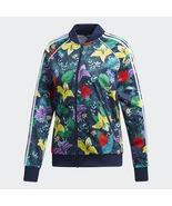 New Adidas 2019 SST Graphic Multicolor hoodie Flower Zip Track Jacket ED... - $119.99