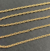 """Vintage French 18K Gold Mariner Gucci Link Chain, 16"""" Necklace - $396.00"""
