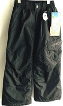 New $60 Zero XPosur Ski Snow Cargo Pants Boys Size 5 6 Black Warm L57023... - $19.79