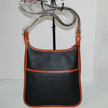 Dooney & Bourke Pebble Leather Black Saddle Crossbody image 7