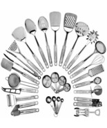 Stainless Steel Kitchen Utensil Set 29 Cooking Utensils Nonstick Kitchen... - $84.22