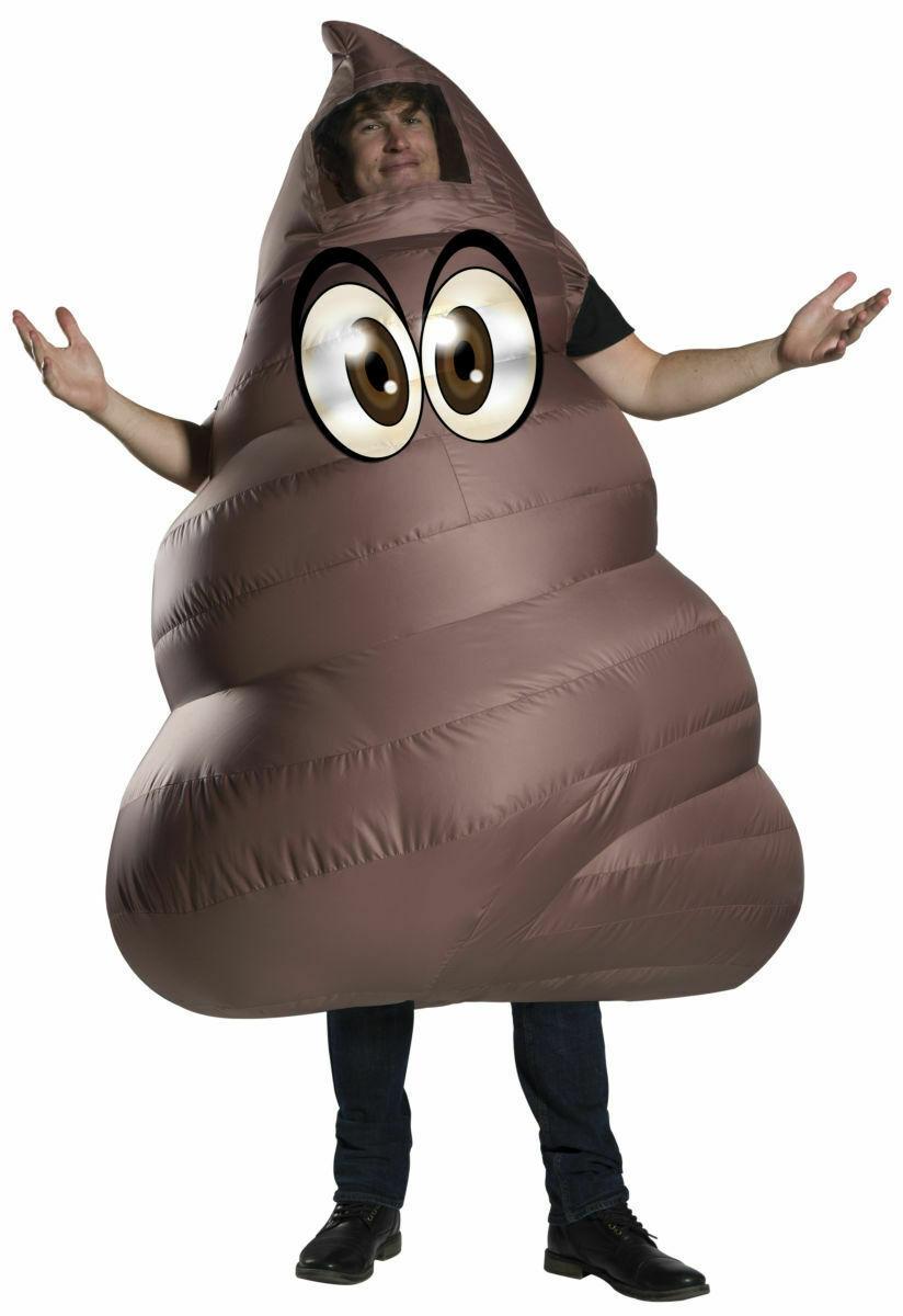 Rubies Inflatable Poop Emoji Funny Brown Adult Mens Halloween Costume 820974