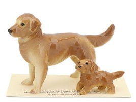Hagen Renaker Miniature Dog Golden Retriever and Puppy Ceramic Figurine image 1