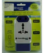 Smart Conair Multi-Plug Travel Adapter w/ 3 Outlets & USB Port TS238AP - $20.54