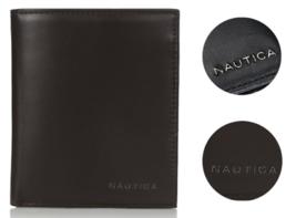 New Nautica Men's Premium Leather Credit Card ID Organizer Big Wallet 31NU19X003