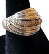 $1800 David Yurman Sculpted Diamond Ring sz 7.5 - $420.75