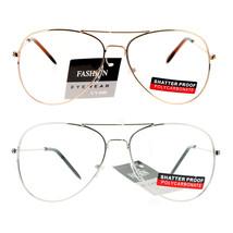 Mens Classic Retro Aviator Wire Rim Clear Lens Eye Glasses - $8.95