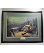 "Thomas Kinkade ""Sunday Evening Sleigh Ride"" Framed 36"" x 27 3/4"" Gallery... - $787.05"