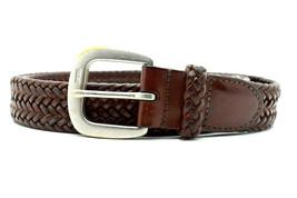 Ralph Lauren Vintage Mens Braided Leather Belt Brown Size 36 - $39.51