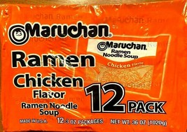 12 pack MARUCHAN RAMEN NOODLE SOUP CHICKEN FLAVOR 3oz  FAST USA SHIPPING - $9.89