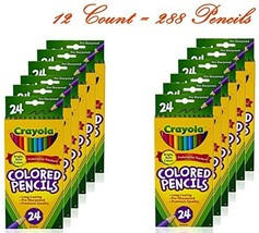 Crayola Colored Pencils, 24 Count Pack of 12 - $41.73